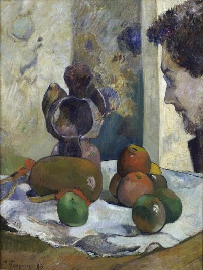 Still Life with Profile of Charles Laval-Paul Gauguin-Giclee Print