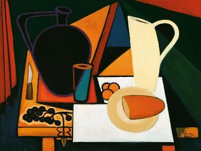 Still Life with Purple Mug, C.1960-Emil Parrag-Giclee Print