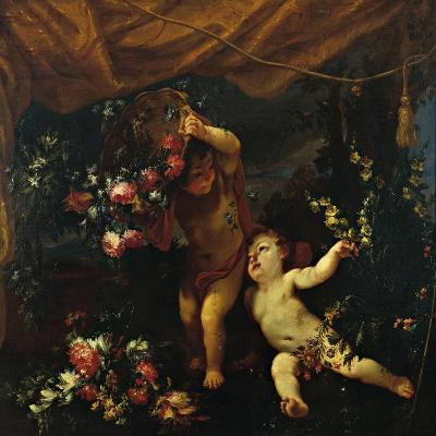 Still Life with Putti and Flowers-Margherita Caffi detta Vicenzina-Giclee Print