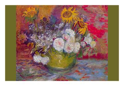 Still-Life with Roses and Sunflowers by Van Gogh-Vincent van Gogh-Art Print