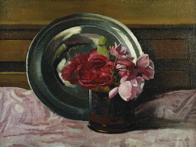 Still Life with Roses; Nature Morte Aux Roses, 1920-F?lix Vallotton-Giclee Print