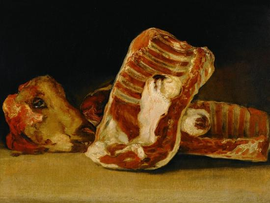 Still Life with Sheep's Head-Francisco de Goya-Giclee Print