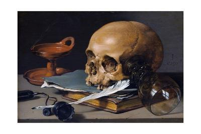 Still Life with Skull and Quill-Pieter Claesz-Giclee Print