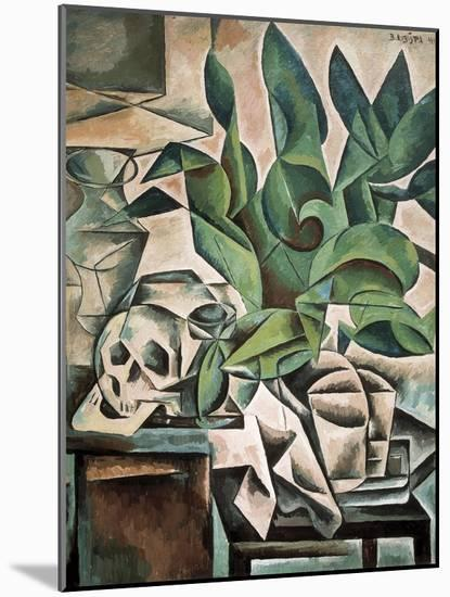 Still Life with Skull-Bohumil Kubista-Mounted Art Print