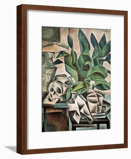 Still Life with Skull-Bohumil Kubista-Framed Art Print