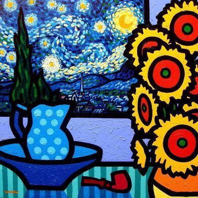 Still Life with Starry Night-John Nolan-Giclee Print