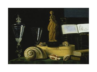 Still-Life with Statue, Books and Shells-Sebastian Stosskopf-Giclee Print
