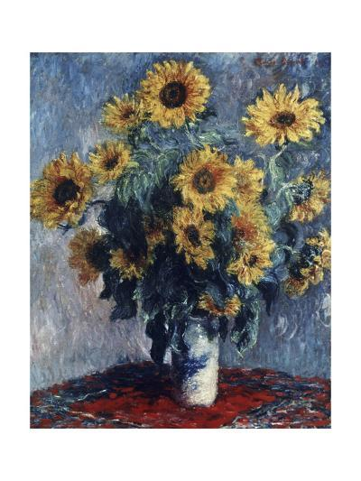Still Life with Sunflowers, 1880-Claude Monet-Giclee Print