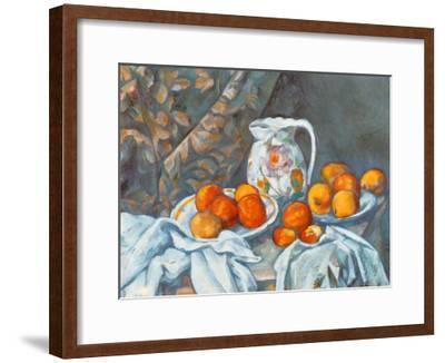 Still Life with Tablecloth-Paul Cézanne-Framed Art Print