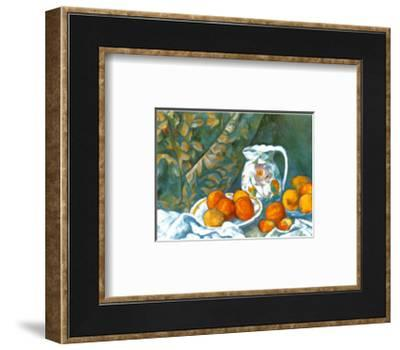 Still Life with Tablecloth-Paul C?zanne-Framed Art Print