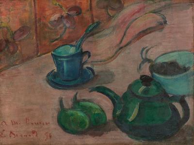 Still Life with Teapot, Cup and Fruit, 1890-Émile Bernard-Giclee Print