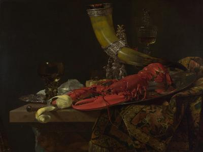 Still Life with the Drinking-Horn of the Saint Sebastian Archers' Guild, Lobster and Glasses-Willem Kalf-Giclee Print