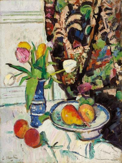 Still Life with Tulips and Fruit-George Leslie Hunter-Giclee Print