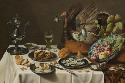 Still Life with Turkey Pie, 1627-Pieter Claesz-Giclee Print