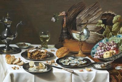 Still Life with Turkey Pie-Pieter Claesz-Premium Giclee Print