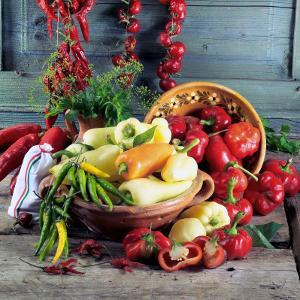 Still Life with Various Hungarian Peppers