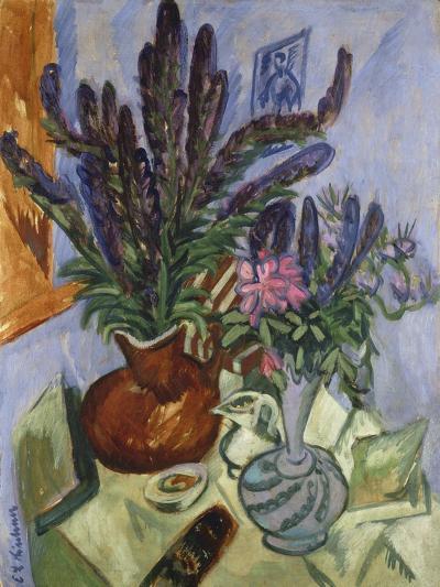 Still Life with Vase of Flowers, 1912-Ernst Ludwig Kirchner-Giclee Print