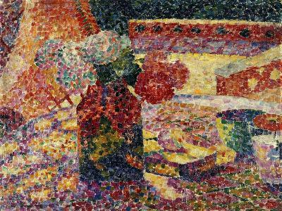 Still Life with Vase of Flowers-Robert Delaunay-Giclee Print