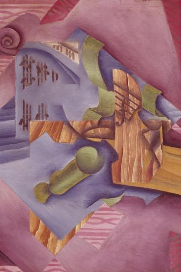 Still Life with Violin and Glass-Juan Gris-Giclee Print