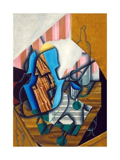 Still Life with Violin and Music Sheet, 1914-Juan Gris-Giclee Print
