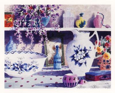 Still Life with Water Jug-Salvador Cavalle-Art Print
