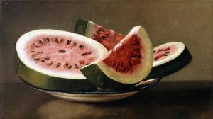 Still Life with Watermelon, American School (19th Century)