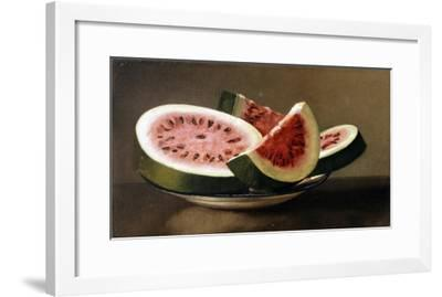 Still Life with Watermelon, American School (19th Century)--Framed Giclee Print