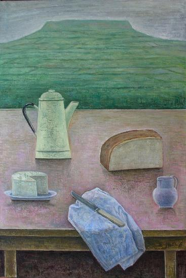 Still Life with Wensleydale Cheese, 2013-Ruth Addinall-Giclee Print