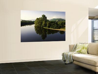 Still Waters of the Dordogne River in Early Morning, from Beynac Village-Barbara Van Zanten-Wall Mural