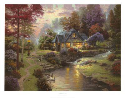 stillwater cottage collectable print by thomas kinkade art com rh art com