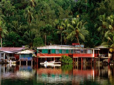 Stilt Houses, Chamorro Bay, Colonia, Micronesia-John Elk III-Photographic Print