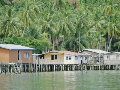Stilt Houses of a Fishing Village, Sabah, Island of Borneo, Malaysia-Gavin Hellier-Photographic Print