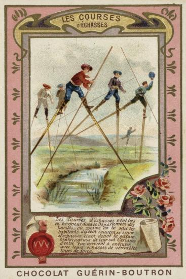 Stilt Race in the Landes, France--Giclee Print