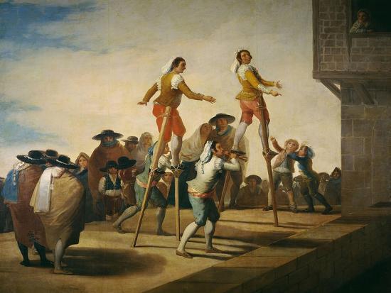 Stilts, 1791-1792-Francisco de Goya y Lucientes-Giclee Print