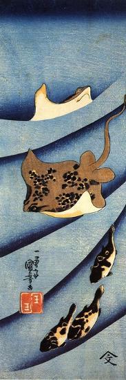 Stingrays-Kuniyoshi Utagawa-Giclee Print