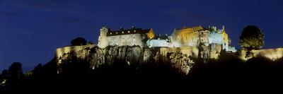 Stirling Castle at Night, Atop Castle Hill, from the Southwest, Stirling, Scotland, United Kingdom-Patrick Dieudonne-Photographic Print