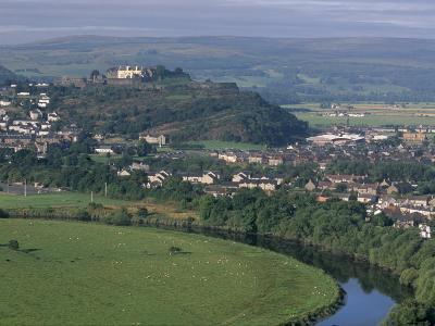 Stirling Castle, Town and Meander of the River Forth, Stirling, Stirlingshire, Scotland, UK-Patrick Dieudonne-Photographic Print