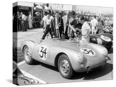 Stirling Moss with Porsche RSK, Goodwood, Sussex, 1955