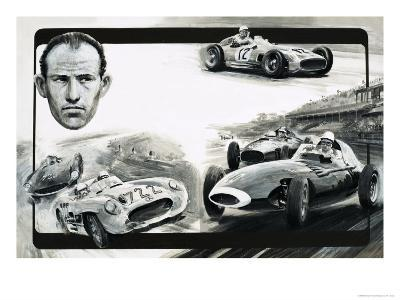 Stirling Moss-Graham Coton-Giclee Print