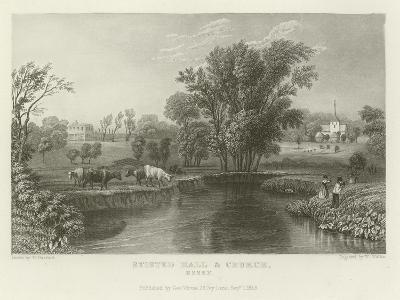 Stisted Hall and Church, Essex-William Henry Bartlett-Giclee Print