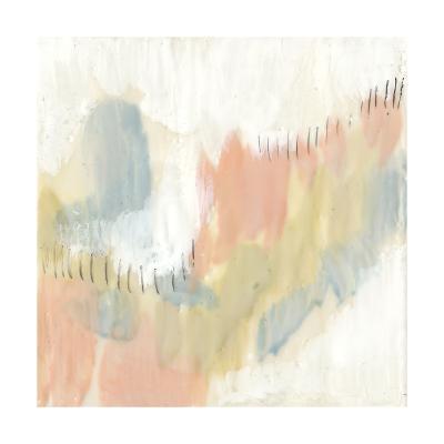 Stitched Pastels I-Jennifer Goldberger-Premium Giclee Print