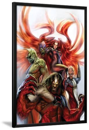Secret Invasion: Inhumans No.3 Cover: Medusa, Gorgon, Karnak and Triton