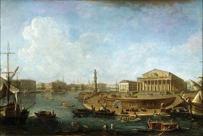 Stock Exchange and Admiralty as Seen from the Peter and Paul Fortress, St Petersburg, 1810-Fyodor Yakovlevich Alexeev-Giclee Print