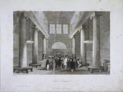 Stock Exchange, Bartholomew Lane, London, C1841-Harlen Melville-Giclee Print