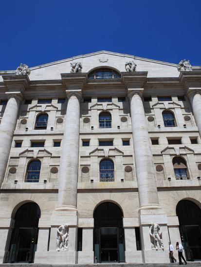 Stock Exchange Building, Milan, Lombardy, Italy, Europe-Vincenzo Lombardo-Photographic Print