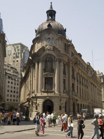 Stock Exchange, Santiago, Chile, South America-Sergio Pitamitz-Photographic Print
