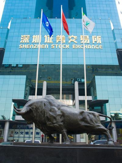 Stock Exchange, Shenzhen Special Economic Zone (S.E.Z.), Guangdong, China-Charles Bowman-Photographic Print