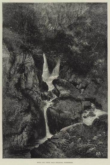 Stock Gill Force, Near Ambleside, Windermere-Charles Auguste Loye-Giclee Print