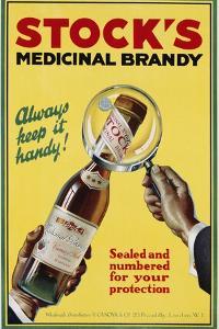 Stock's Medicinal Brandy Poster