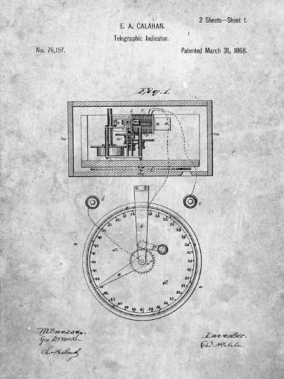 Stock Ticker Patent-Cole Borders-Art Print